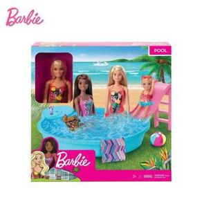 Barbie GHL91 Pool Doll and Playset