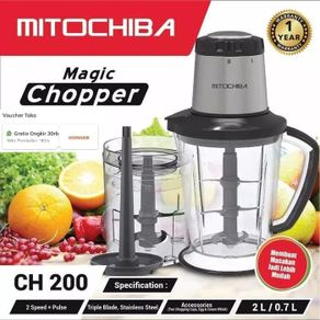 PROMO...!!! Mitochiba CH-200 / CH200 / CH 200 Magic Food Chopper (2 Liter) (DIJAMIN 100% ORI)